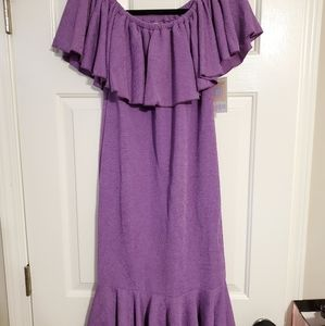 Purple LuLaRoe CiCi dress size small